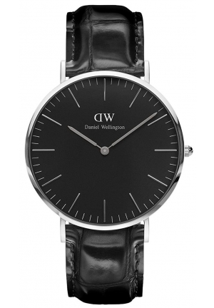 Classic Black Reading 40mm Silver DW00100135