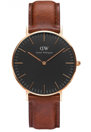 Classic Black St. Mawes 36mm Rose Gold DW00100136