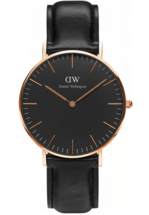 Classic Black Rose Gold 36mm, DW00100139