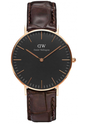 CLASSIC BROWN ROSE GOLD 36MM DW00100140
