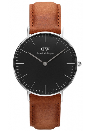 DANIEL WELLINGTON CLASSIC BLACK DURHAM LADIES WATCH 36MM DW00100144