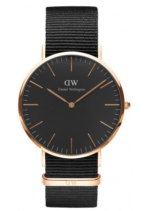 Daniel Wellington Classic Black Cornwall 40mm – Rose Gold DW00100148