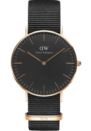 Daniel Wellington Ladies Classic Black Cornwall Watch 36mm DW00100150