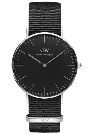 Daniel Wellington Classic Black Cornwall Black Fabric Strap DW00100151