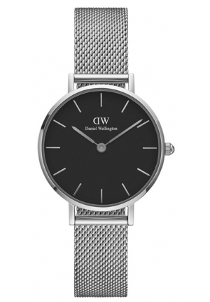DANIEL WELLINGTON CLASSIC BLACK PETITE STERLING SILVER 28MM DW00100218