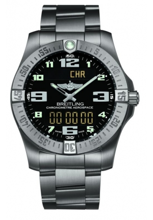 BREITLING Aerospace Evo Black Dial Titanium Mens Watch 43mm