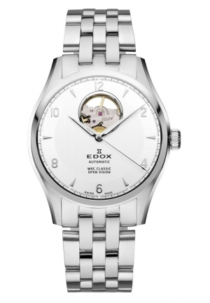 EDOX Men's Automatic Stainless Steel Bracelet Watch 39.5mm