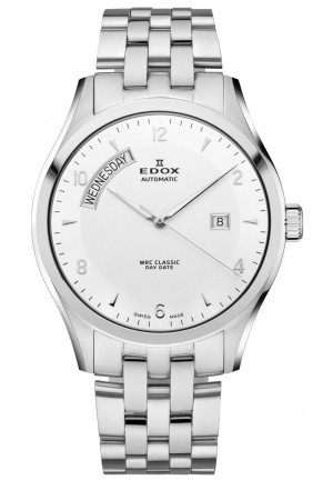 EDOX Men's Automatic Stainless Steel Bracelet Watch 43mm