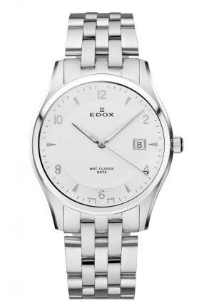 EDOX Men's Luminous Date Stainless Steel Bracelet Watch 40mm