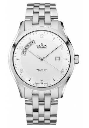 EDOX Men's WRC Classic Day Date Watch 43mm