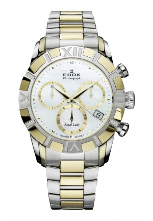 EDOX Women's Royal Lady Two- tone Stainless Steel Chrono Watch 36.5mm