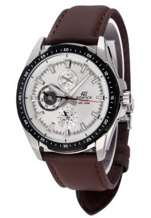 CASIO EDIFICE MEN'S BROWN LEATHER