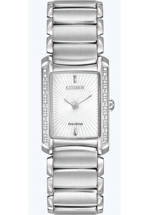 Citizen Women's Euphoria Analog Display Japanese Quartz Silver Watch