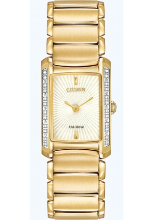 "Citizen Women's ""Euphoria"" Diamond-Accented Stainless Steel Eco-Drive Watch"
