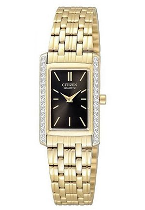 Quartz Rectangular Black Dial Women's Watch 19mm