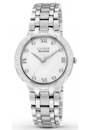 "Citizen Women's ""Bella"" Stainless Steel and Diamond Eco-Drive Watch"