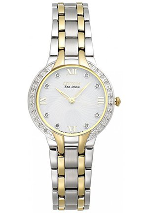Women's Eco-Drive Diamond Accent Two-Tone Bracelet 29mm