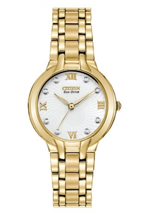 "Citizen Women's ""Bella"" Stainless Steel Eco-Drive Watch with Diamonds"