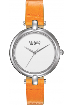 CITIZEN EM025001A SILHOUETTE STRAPS ORANGE WATCH 34MM