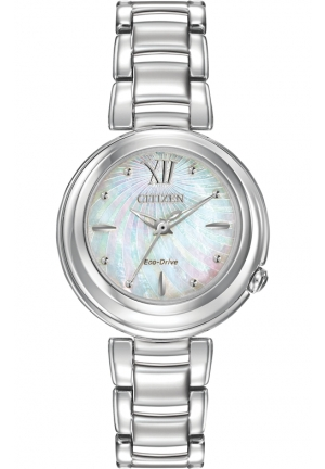 Citizen Women's Citizen L Sunrise Analog Display Japanese Quartz Silver Watch