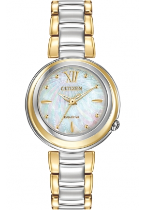 CITIZEN Sunrise Analog Display Japanese Quartz Two Tone Watch 30mm