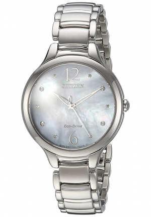 L Crystal Mother of Pearl Dial Ladies Watch