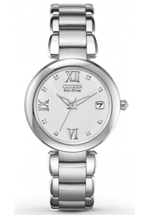 Citizen Women's Marne Signature Eco-Drive Diamond Dial Watch