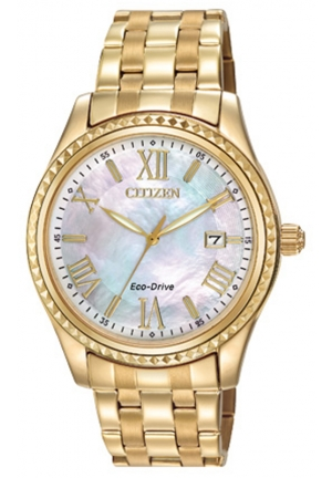 itizen Women's Drive from Citizen Eco-Drive AML Analog Display Japanese Quartz Gold Watch