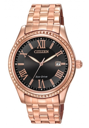 Citizen Women's Drive from Citizen Eco-Drive AML Analog Display Japanese Quartz Rose Gold Watch