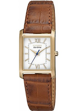 Women's Brown Leather Strap 25x23mm