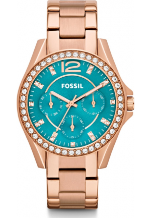 FOSSIL WOMEN'S RILEY ROSE GOLD WATCH 38MM