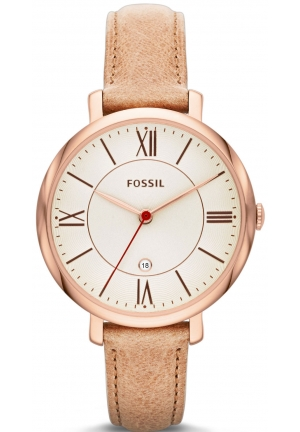 JACQUELINE THREE-HAND LEATHER WATCH - CAMEL 36MM
