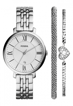 Fossil Women's Jacqueline Stainless Steel Bracelet Watch Set 36mm