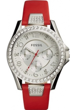 FOSSIL ES4111 RILEY MULTIFUNCTION LEATHER WATCH 38MM