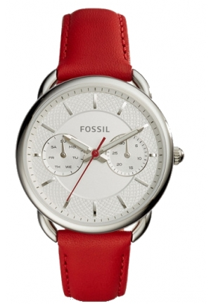 TAILOR MULTIFUNCTION RED LEATHER WATCH 35mm