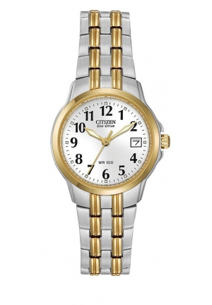 "CITIZEN Eco-Drive ""Silhouette"" Two-Tone Stainless Steel Watch26mm"
