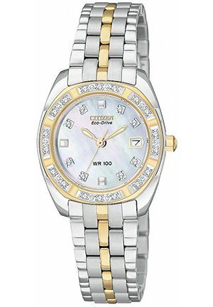 Women's Eco-Drive Two-Tone Stainless Steel Bracelet 27mm