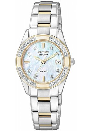 Women's Diamond Accent Two Tone Stainless Steel Bracelet 26mm