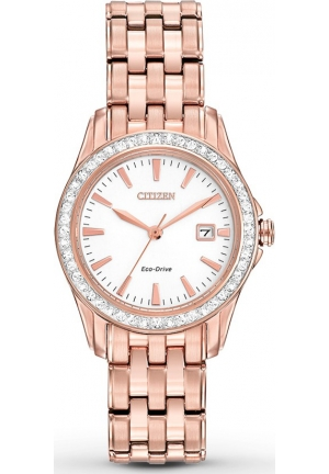 Citizen Women's Silhouette Crystal Analog Display Japanese Quartz Gold Watch