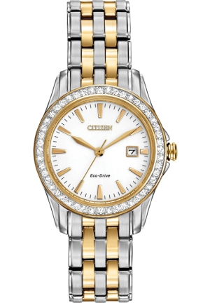 Citizen Women's Silhouette Crystal Analog Display Japanese Quartz Two Tone Watch