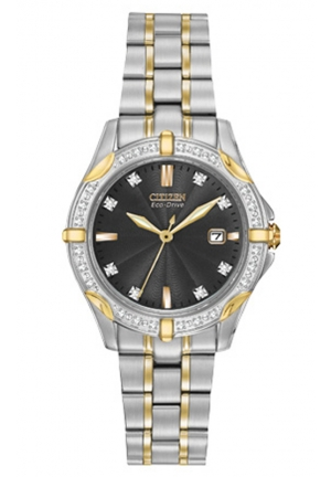 Citizen Women's Diamonds Analog Display Japanese Quartz Two Tone Watch