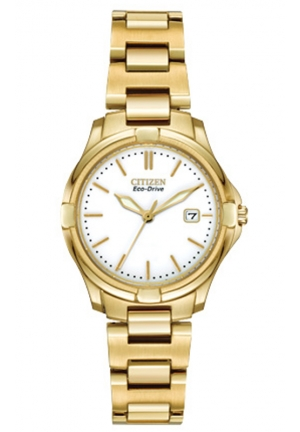 Citizen Women's Silhouette Sport Analog Display Japanese Quartz Gold Watch