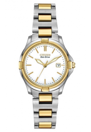 Citizen Women's Silhouette Sport Analog Display Japanese Quartz Two Tone Watch