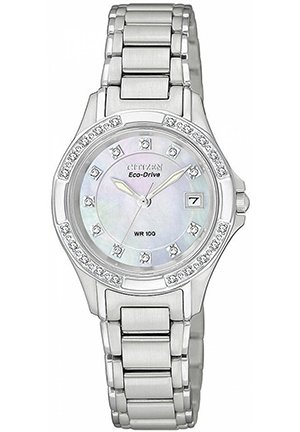 Women's Eco-Drive Diamond Accent Stainless Steel Bracelet 26mm