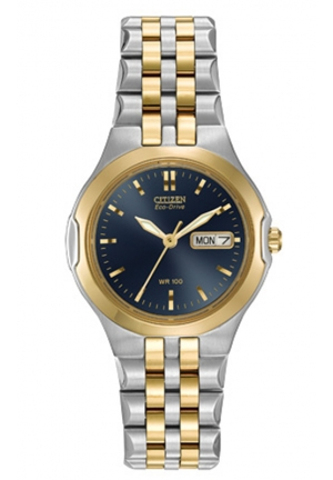 CITIZEN Corso Two Tone Corso Eco-drive Blue Dial 27mm