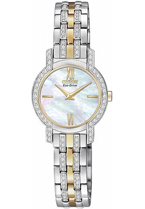 Women's Eco-Drive Silhouette Two-Tone Stainless Steel Bracelet 22mm