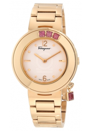 Ferragamo Women's Gancino Sparkling Gold IP Steel Watch