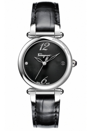 IDILLIO BLACK LADIES WATCH, 34MM