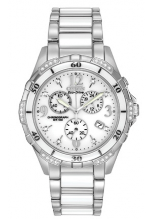 Citizen Women's Stainless Steel Diamond-Accented Eco-Drive Watch