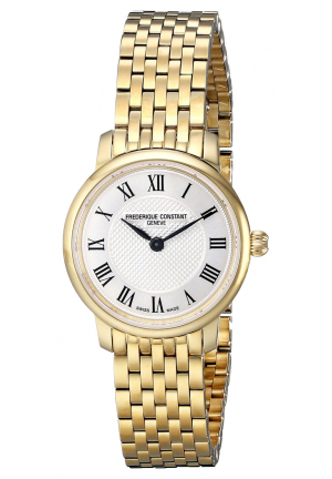 ULTRA SLIM LADIES YELLOW GOLD PLATED WATCH 25MM